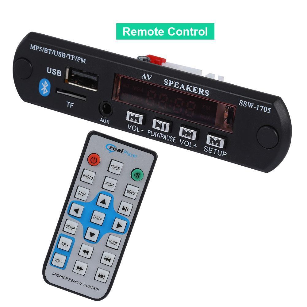 LCD DIY Car Bluetooth Audio MP5 Decoder Board Module Player