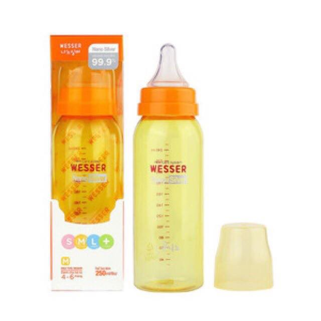 Bình sữa Wesser Nano Silver cổ nhỏ 250ml