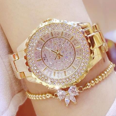 Đồng hồ nữ BS BEE SISTER Đính đá siêu đẹp - Thương Hiệu Cao Cấp + Tặng Pin ĐH