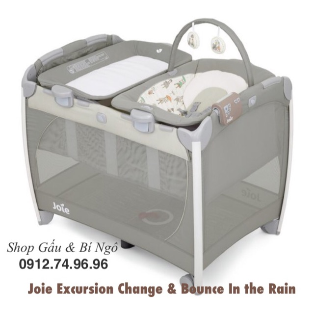 ? Giường nôi cao cấp Joie Excursion Change & Bouncer ( In the Rain - Astract Arrow)