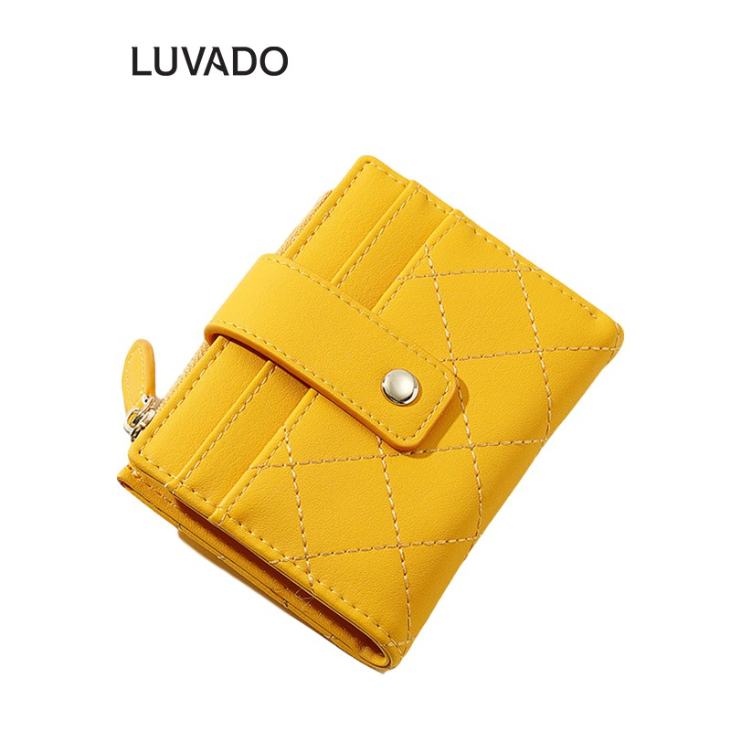 Ví nữ thời trang ngắn TAOMICMIC cầm tay nhiều ngăn cao cấp đựng tiền LUVADO VD407