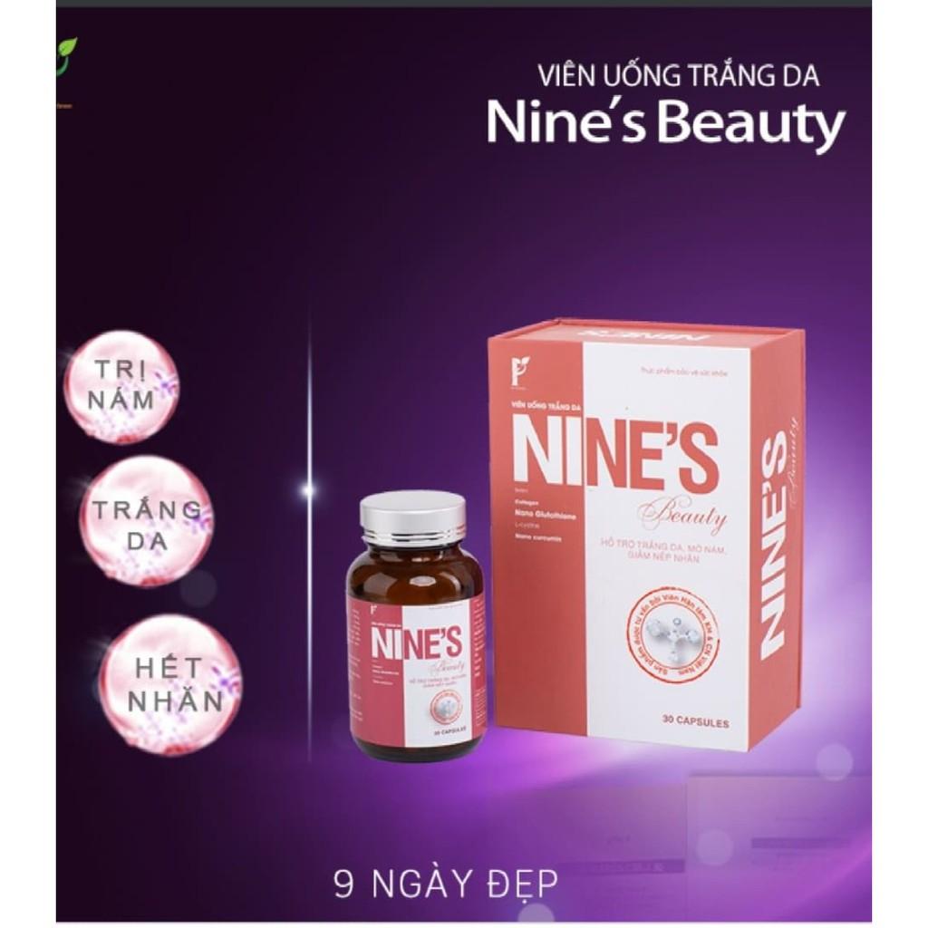 VIÊN UỐNG CAO CẤP TRẮNG DA, MỜ NÁM, GIẢM NẾP NHĂN Nines Beauty