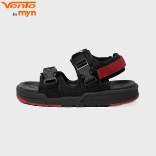 Giày Sandal Vento Nam/ Nữ - Dây khóa bấm- NV 1002 - Đen Đỏ