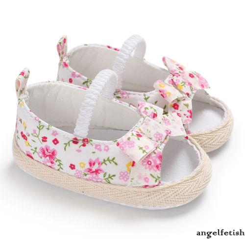 ℒℴѵℯ~new Baby Toddler Girl Floral Cloth Sandals Antislip Summer  Bowknot cute