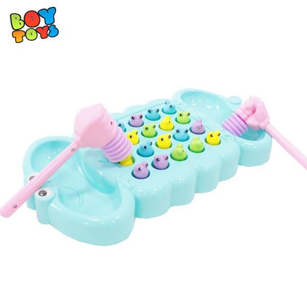 Bộ đồ chơi bắt ếch kích thích trí não giúp trẻ phản xạ nhanh ngay lập tức