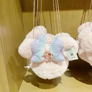 Shanghai Disney Minnie Bow Messenger Bag Minnie Plush Doll Bag Chain Chain Cherry Blossom Season Bag