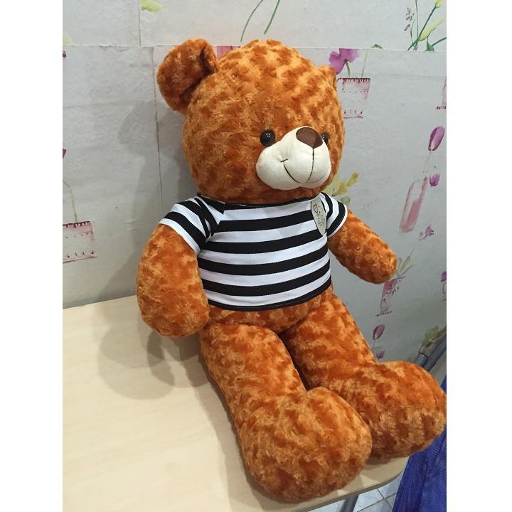 Gấu bông Teddy khổ 1m màu cam