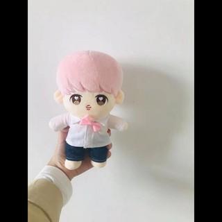 (20cm) Doll jimin tóc hồng có quần áo