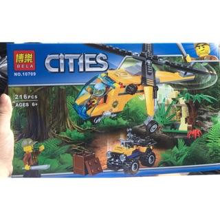 Lego City Urban 10709 Máy bay trực thăng thám hiểm rừng