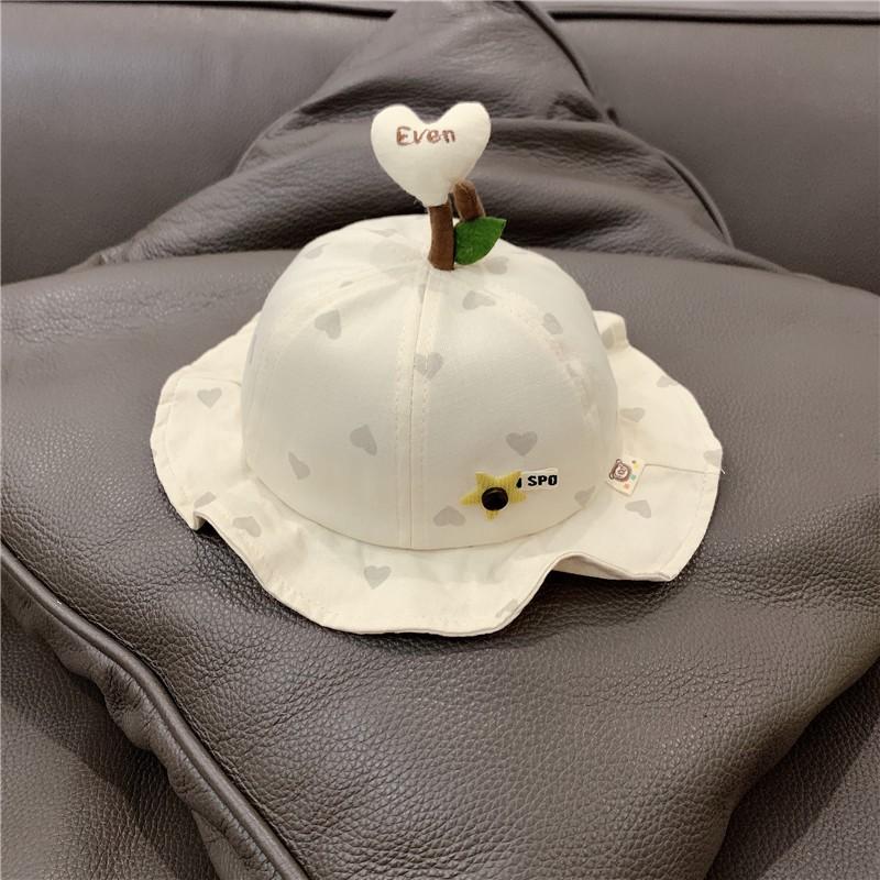 Mũ Vành có chóp trái tim cho bé gái bé trai 6-24 tháng