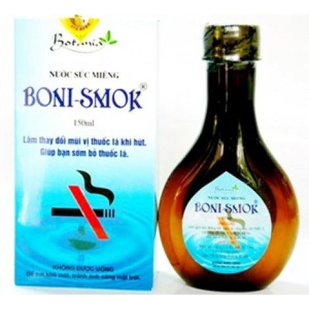 Nước súc miệng Boni-smok 150ml - 250ml