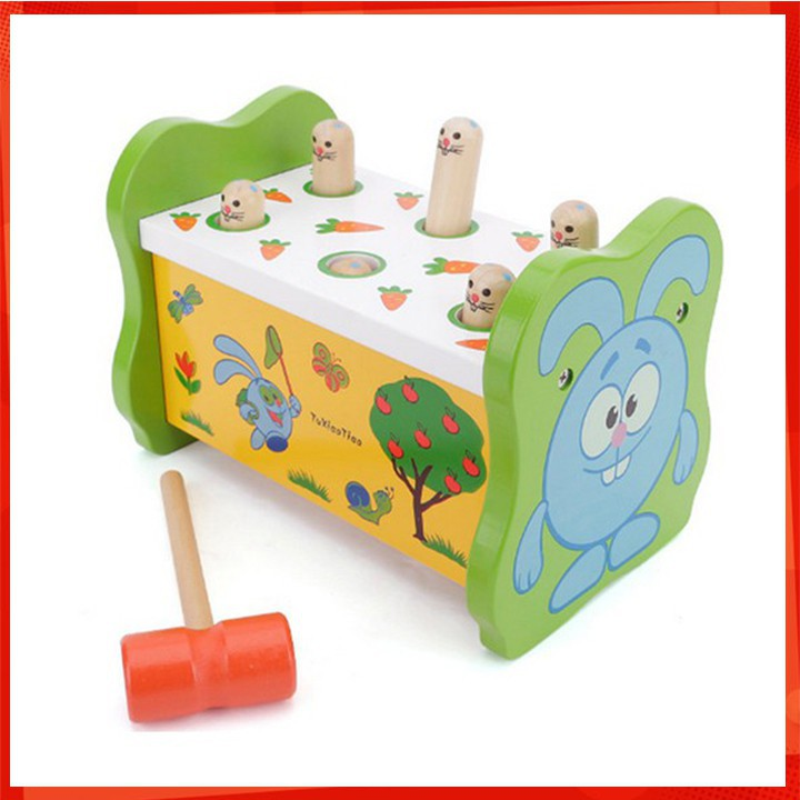 [ẢNH TỰ CHỤP] Đồ chơi gỗ - Bộ đồ chơi đập chuột 1 búa cho bé [BÁN CHẠY]