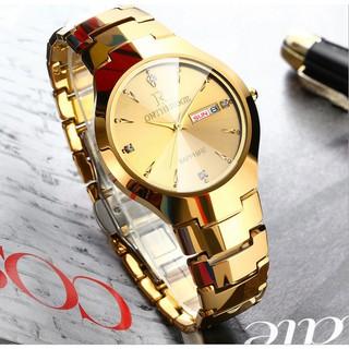 Đồng hồ nam Ontheedge dây đá siêu mỏng kính Sapphire (fullbox, vàng) thumbnail