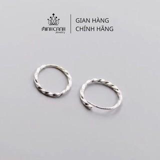 Khuyên Tai Bạc Tròn Xoắn Chốt Cài - Minh Canh Jewelry thumbnail
