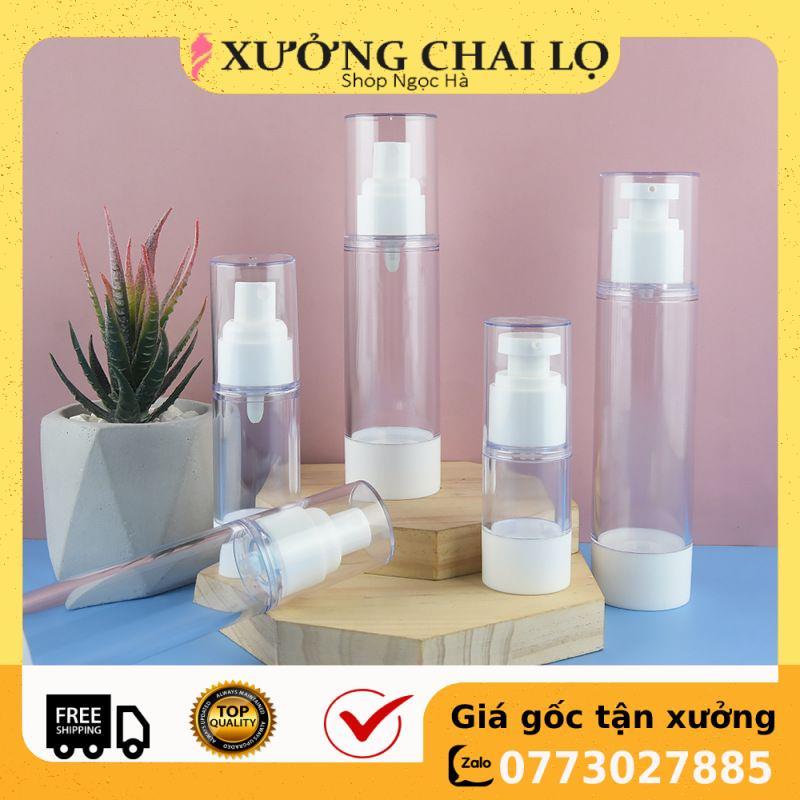 Chai nhựa xịt giọt hút chân không 15ml/30ml/50ml/100ml chiết mỹ phẩm