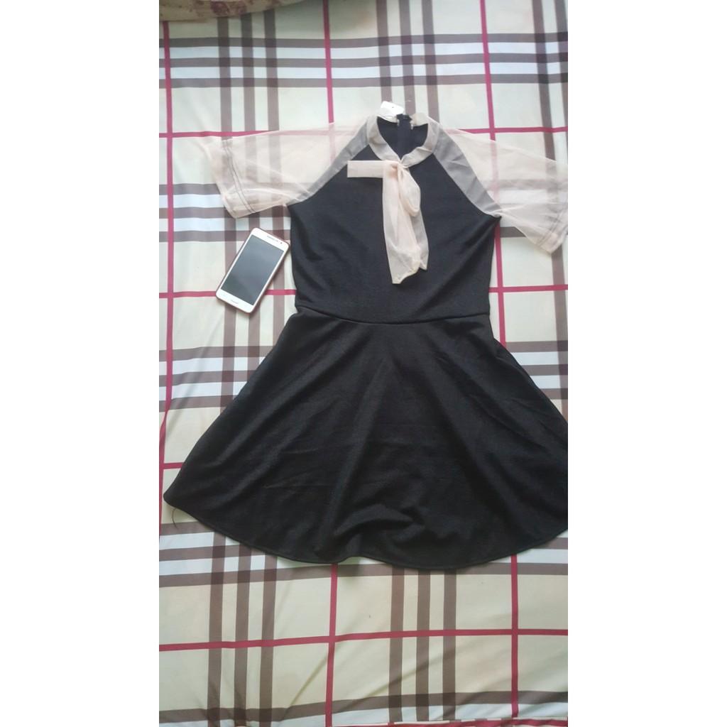 Váy kim tuyến phối lưới (ảnh thật)