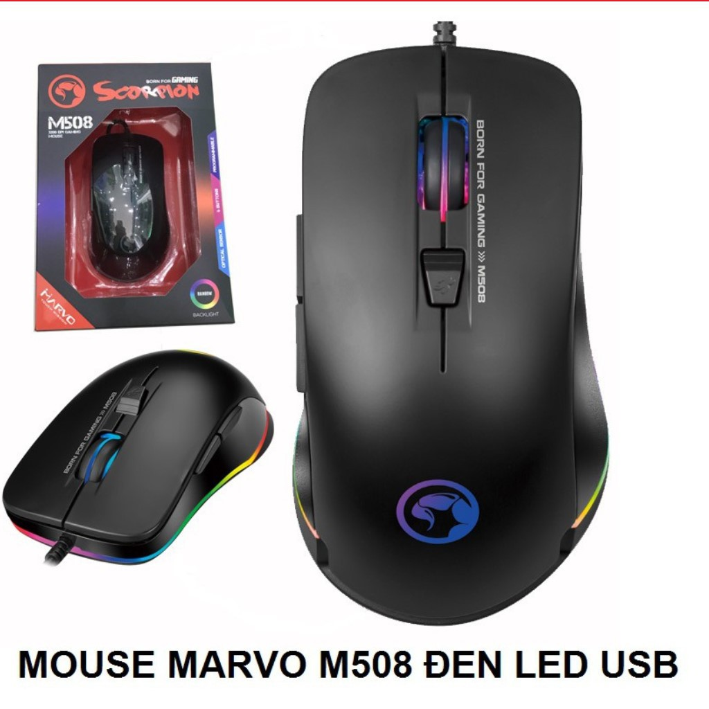 Mouse Marvo M508 đen LED