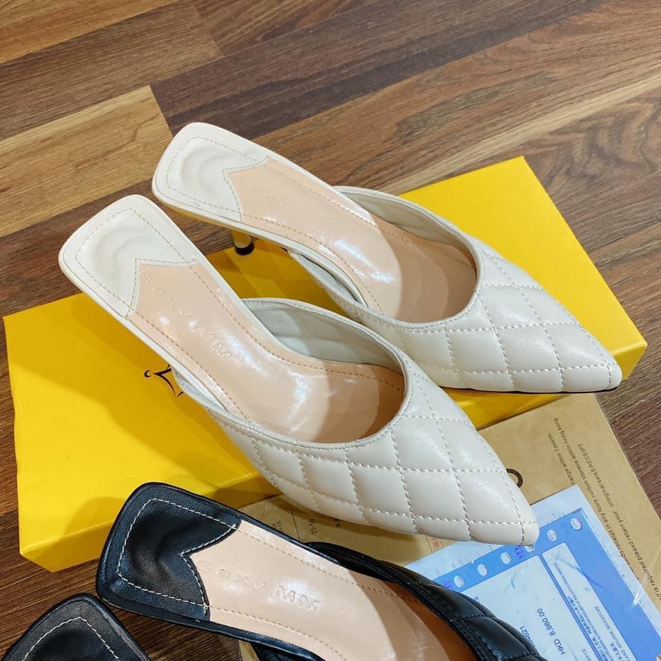 Giày sục nữ 😍 [HÀNG HOT- BÁN GIÁ SỈ]😍 sụt cao gót 5 cm, chất da mềm thêu chỉ cao cấp, giày xinh giá rẻ