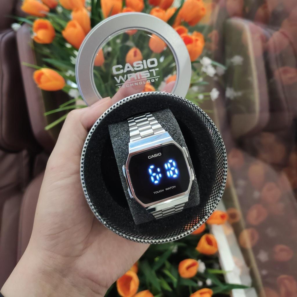 Đồng hồ Casio A168 Led cảm ứng tráng gương unisex (nam, nữ), chống nước 3 ATM-ME_WATCH