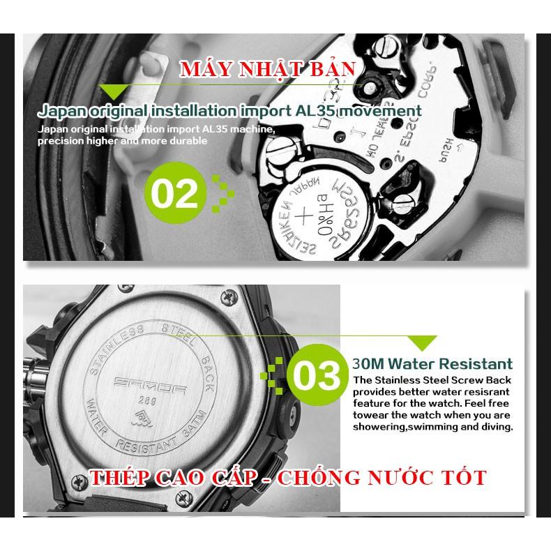 Đồng hồ Trẻ Em thể thao SANDA JAPAN Chống nước Siêu bền