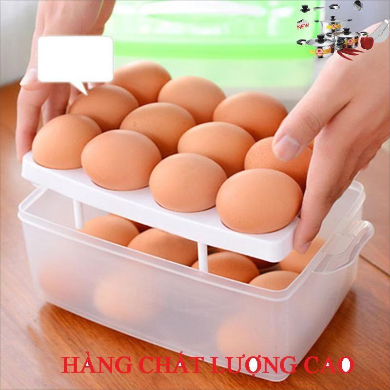 (ƯU ĐÃI SIÊU TỐT)Hộp đựng trứng 2 tầng 24 quả tiện dụng EU__ 0407 (SIÊU HOT)