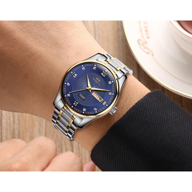 Đồng hồ Olmeca nam Japan 758M (mặt xanh)