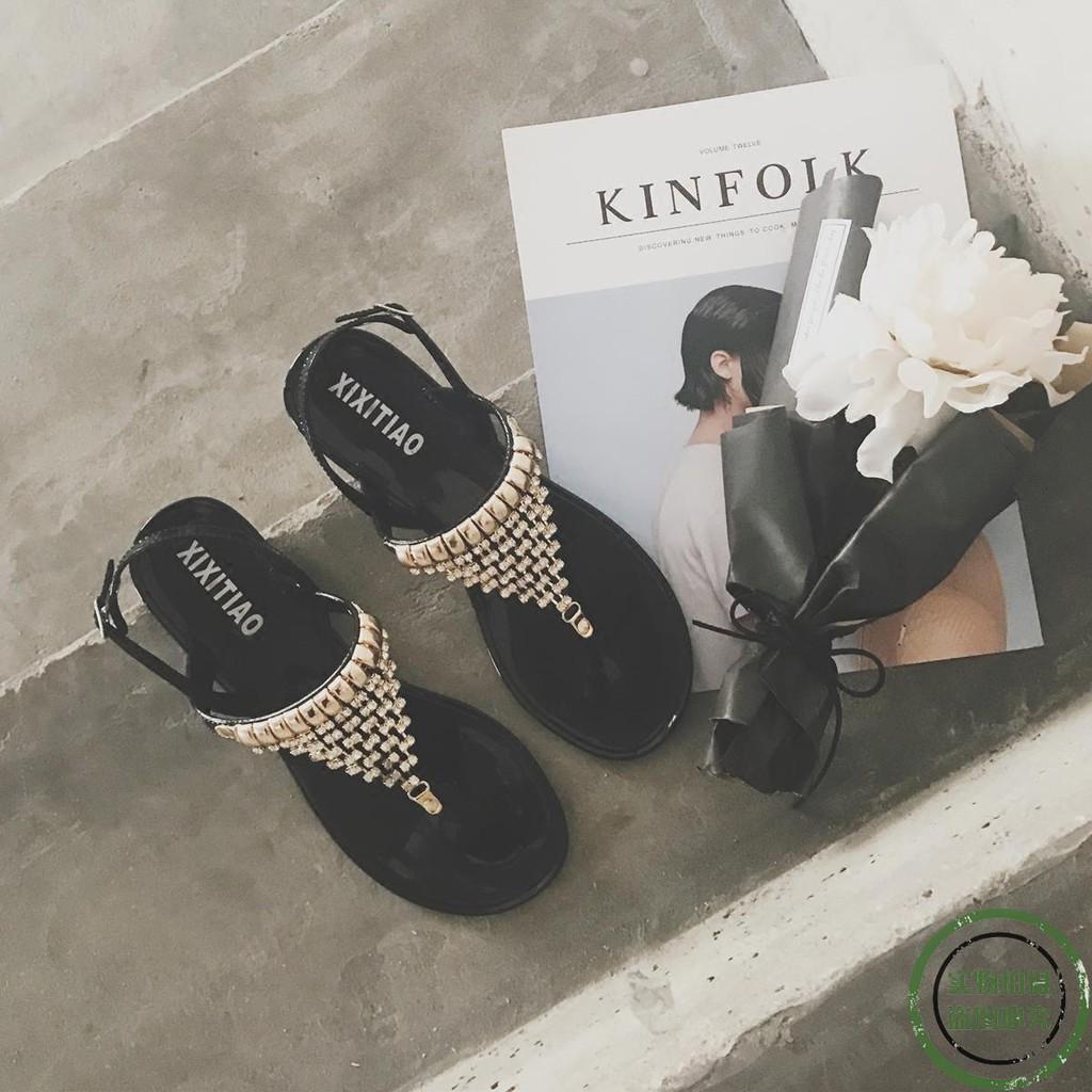 ♥ new spot ♥ 2018 summer new bohemian rhinestone sandals wom