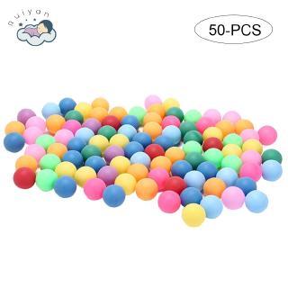 【RYT】50 Balls A Pack Scrub Color 40mm Table Tennis Plastic Ball