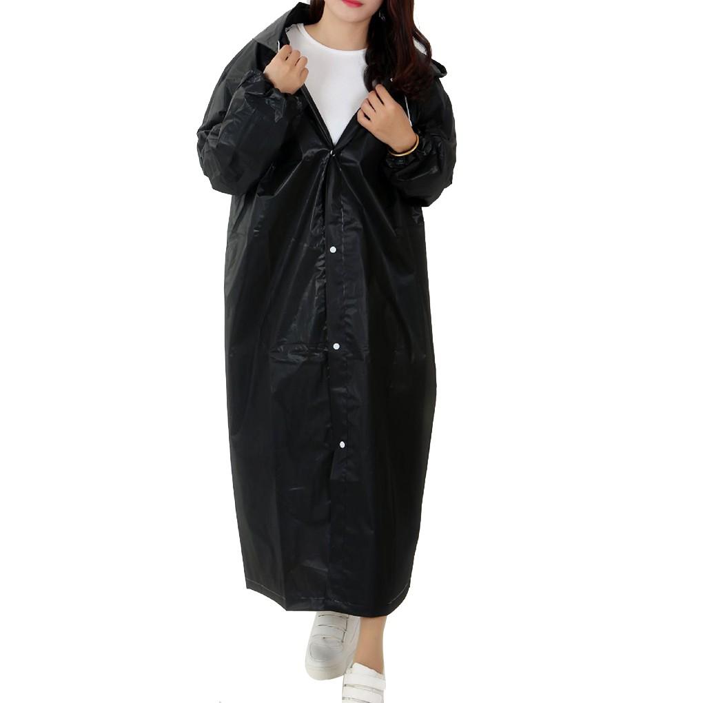 Áo mưa bằng vải EVA chống thấm nước kèm mũ đội tiện lợi