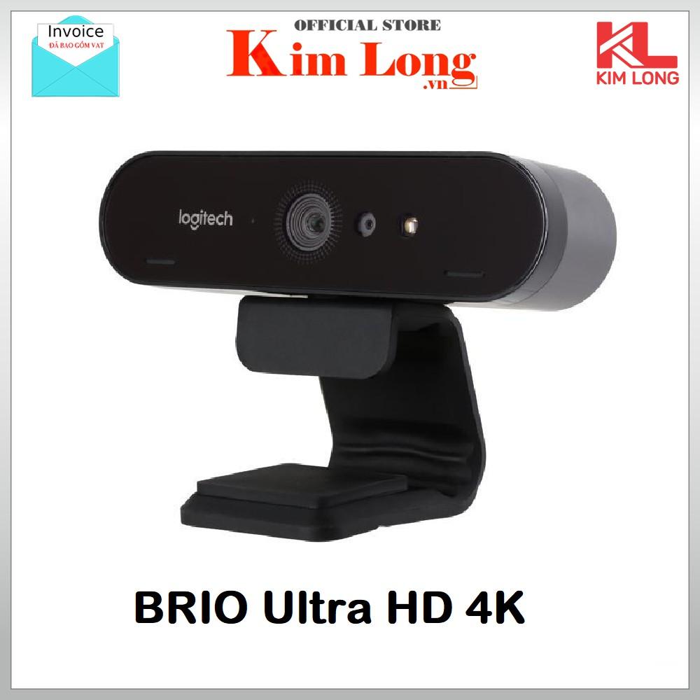 Webcam Logitech BRIO 4K Ultra HD - Bảo hành 3 năm chính hãng