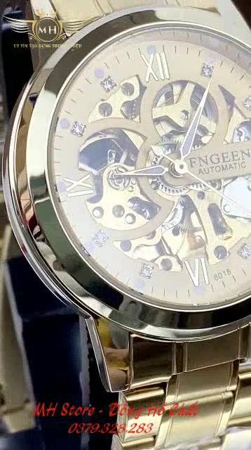 Đồng hồ cơ nam Fngeen 6018 ✴️FreeShip✴️ Lộ máy, Chống Xước, Chống Nước - Đồng hồ Fngeen cơ cao cấp ✴️ Hàng chính hãng