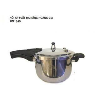 Nồi áp suất đa năng Hoàng gia size 26cm nấu trên mọi loại bếp thumbnail