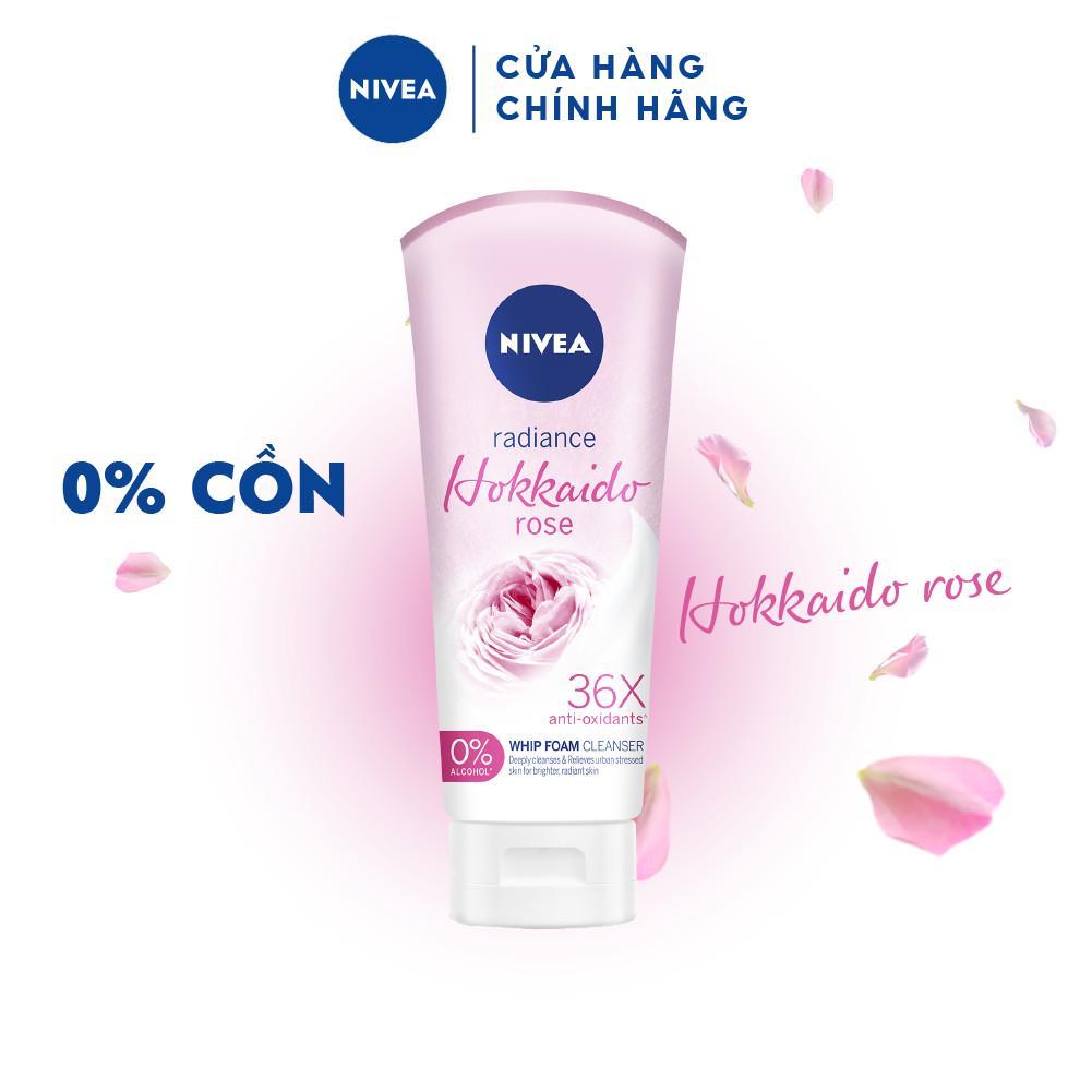 Sữa rửa mặt tạo bọt Nivea Radiance Hokkaido Rose (100ml) – 84984