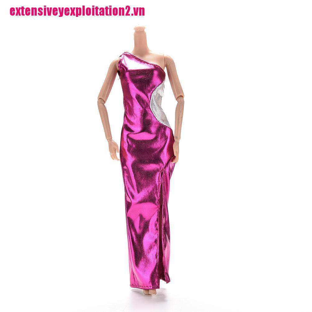 {extensivey2.vn}1 Pcs Vest Purple Single Shoulder Dresses Cheongsam for Barbies Princess Dolls