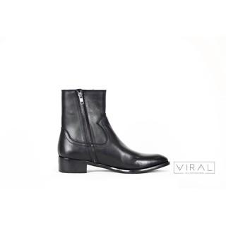 Giày nam Zip Boots Khóa Kéo Streetwear Da Bò Đế Phíp Cao Cấp BẢO HÀNH 12 THÁNG .Tặng Phụ Kiện thumbnail