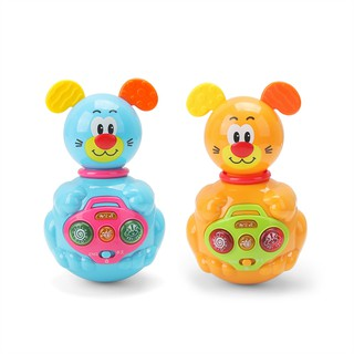 Tumbler Rattles rattle-roly-poly funny teether toy for baby gift