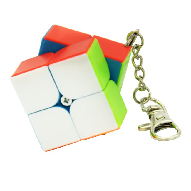 Lefang Small Cube Key Ring 3*3 & 2 * 2 Cylindrical Trihedron Cube Keychain Toy
