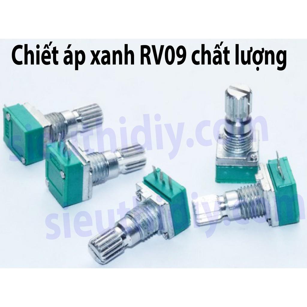 Chiết áp Xanh RK09N Đài Loan chất lượng cao B5K B10K B20K B500K