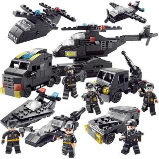 Bộ đồ chơi xếp hình LEGO CẢNH SÁT SWAT 500 mảnh ghép kích thích trí thông minh và sáng tạo của trẻ