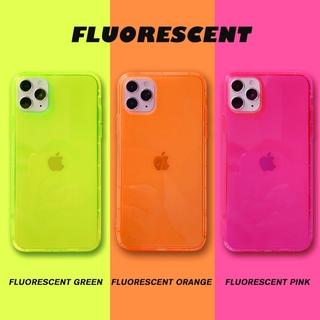 Ốp điện thoại TPU silicon màu kẹo dạ quang trong suốt cho iPhone 11 Pro Max X Xr Xs Max 7 8 + Se 2020 12 pro max 12 mini thumbnail