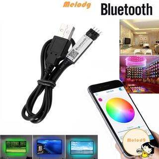 💍MELODG💍 for 3528 5050 Color Changing DC5V Background Lighting RGB LED Strip Bluetooth Controller