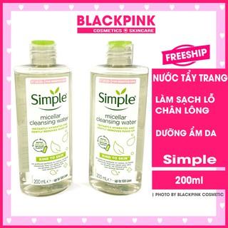 Nước tẩy trang Simple Micellar Cleansing Water - Loại bỏ bụi bẩn và làm sạch lớp trang điểm hiệu quả, giữ ẩm cho da