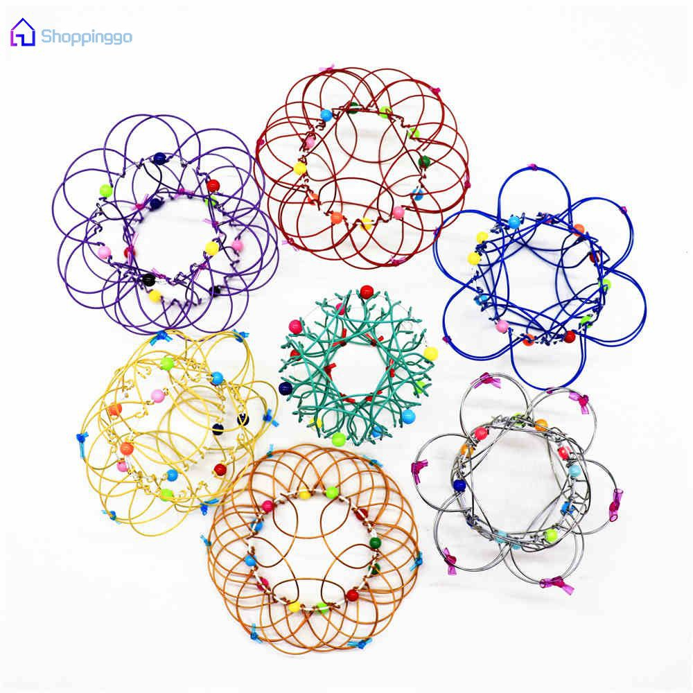 ⇢⇢ Mandala Decompression Toy Variety Flower Basket Thirty-Six Variable Mild Steel Magic Hoop Children's Toy 【SHOPPINGGO】