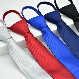 Cà vạt bản nhỏ sần thắt sẵn