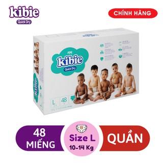 [MẪU MỚI] L48 Bỉm Quần KIBIE Quick Dry - Tã Quần Cao Cấp Hàn Quốc Mềm Nhẹ Khô Thoáng Vượt Trội thumbnail