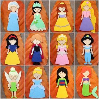 Đồ Chơi Búp Bê 12 công chúa Walt Disney Kích Thước 14cm bằng Vải