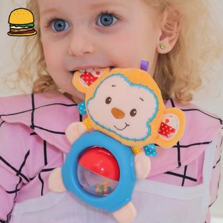Baby Rattles Teether Toys Plush Cute Animal Toddlers Learning Early Education Toy