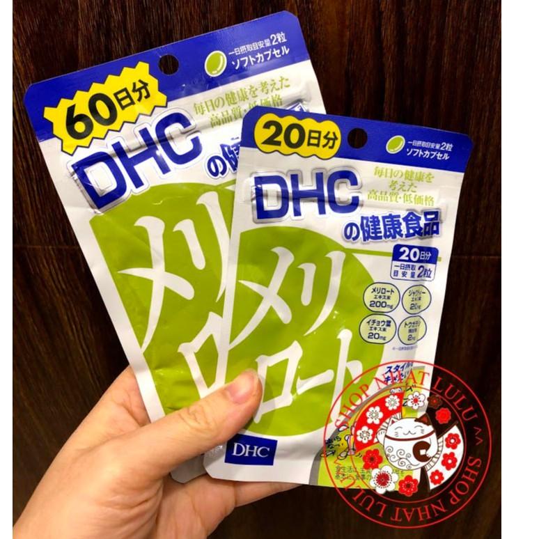 Viên GIẢM MỠ, THON GỌN ĐÙI DHC 20/60 ngày Nhật bản
