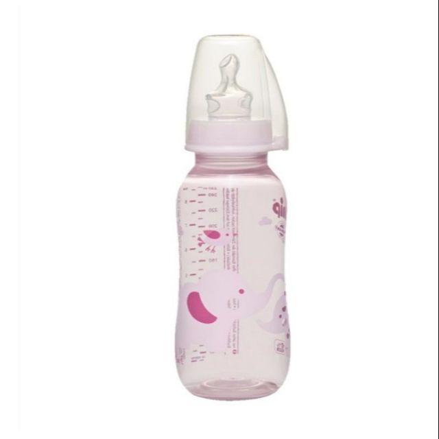 Bình sữa NIP PP cổ thường Trendy 250ml, núm ti chỉnh nha, chống sặc (silicon siêu mềm)