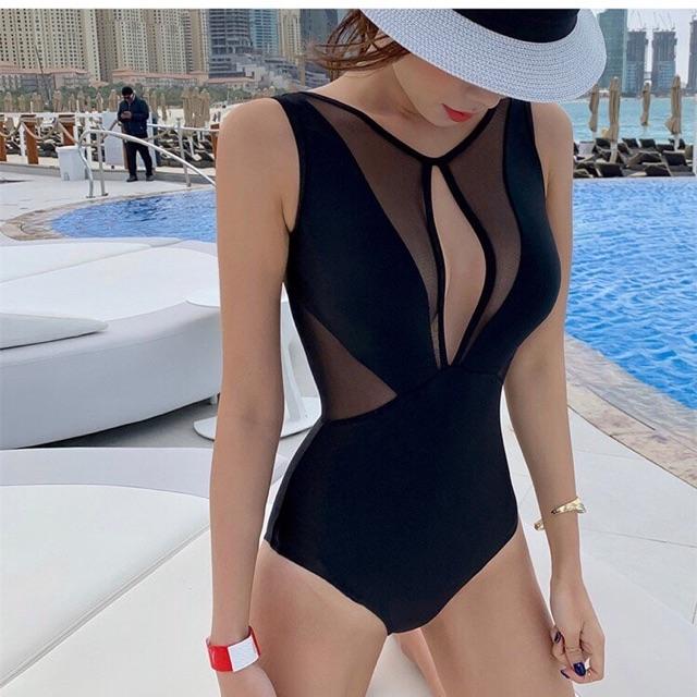[HCM]Bikini đồ bơi 1 mảnh phối lưới thumbnail